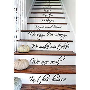 44x80 cm) In this House We Do, We Love, Con Texto, De Vinilo, Para Escaleras O Pared Pegatina Vinilo Arte Mural Adhesivo: Amazon.es: Hogar
