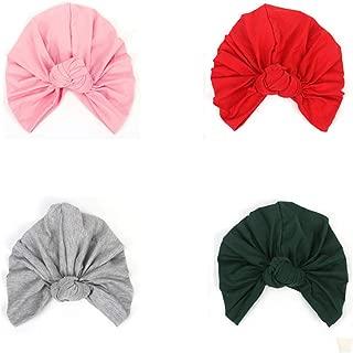6PCS Knotted Turban Hat for Women Bohemian Braided Turban Headwear Hat Head Wrap Cap