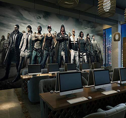 YBSBH 3D muurschildering zelfklevende achtergrond foto grote ontsnapping spel internet café 3D muurschildering kinderen slaapkamer meisje kamer kleuterschool woonkamer behang kantoor muurschildering decoratie 200x150 cm (WxH) 4 stripes - self-adhesive
