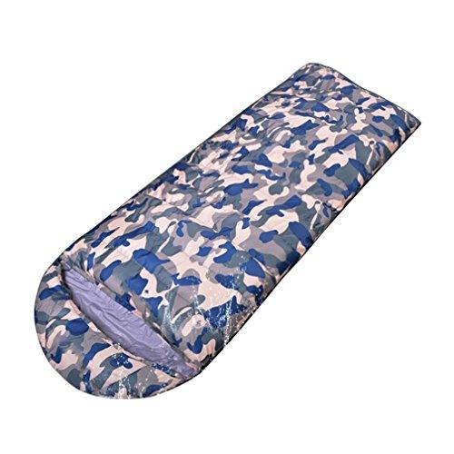 Camouflage vers le bas l'équipement de camping extérieur de sac de couchage vers le bas 600-2500g , 3 , 2000g