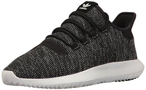 adidas Originals Men's Shoes | Tubular Shadow Knit Fashion Running, Black/Utility Black Vintage White St, (9.5 M US)