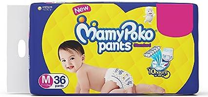 Mamypoko Standard Baby Diaper Pants, Medium (7 - 12 kg) 36 Count