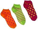 Jefferies Socks Little Girls Socken für kleine Mädchen, gepunktet, gestreift, Sterne, 3 Stück - - X-Small