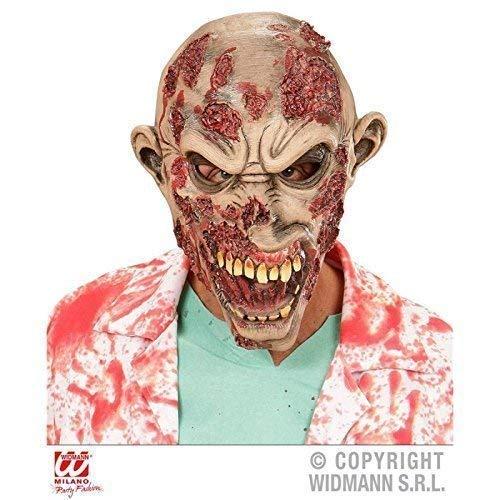 Lively Moments Übergroße Maske Slasher Zombie / Zombiemaske für EIN Zombiekostüm / Latexmaske / Halloweenmaske / Zombiekostüm Zubehör