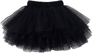 Colorful Childhood Baby Girls Tutu Skirt Toddler 6 Layered Tulle Tutus 1-8T Black Size 12-24 Months