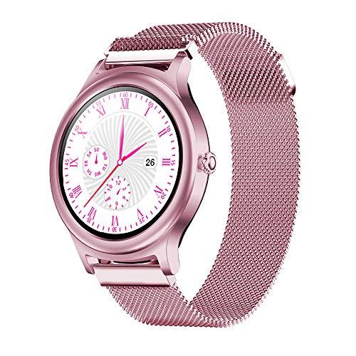 BlitzWolf Smartwatch Mujeres, Reloj Inteligente Mujer Hombre Pantalla Táctil Completa Smartwatch Presión Arterial Monitor de Sueño Notificaciones por SMS Podómetro para Android iOS (Rosado)