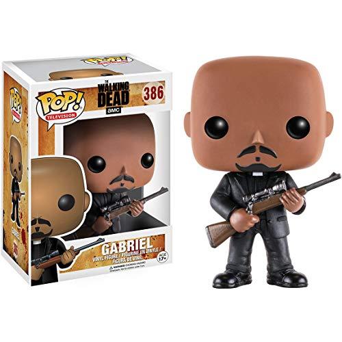 Gabriel: Walking Dead x Funko POP! Figura de vinilo de TV y 1 POP! Compatible con PET protector gráfico [#386 / 11066 - B]