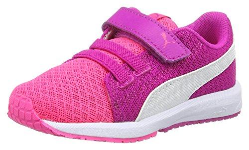 Puma Unisex-Kinder Carson Runner Mesh VE V Inf Low-Top, Pink (Knockout pink White 04), 21 EU