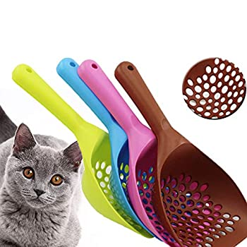 Runfon Pelle à litière pour Chat en Plastique épaisse Durable