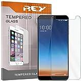REY 3X Protector de Pantalla para COLDPAD 360 N7, Cristal Vidrio Templado Premium