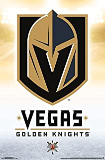 Trends International NHL Vegas Golden Knights - Logo Wall Poster, 22.375