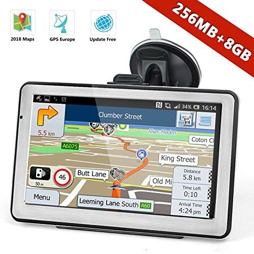 Navtour 7 Zoll GPS Navi Navigationsgerät mit Fahrspurassistent