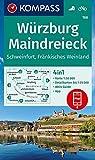 KOMPASS Wanderkarte Würzburg, Maindreieck, Schweinfurt, Fränkisches Weinland: 4in1 Wanderkarte 1:50000 mit Aktiv Guide und Detailkarten inklusive ... (KOMPASS-Wanderkarten, Band 166)
