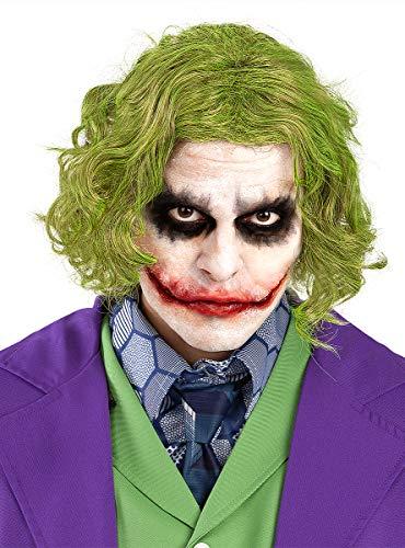 Funidelia | Peluca del Joker - El Caballero Oscuro Oficial para Hombre ▶ Superhéroes, DC Comics, Villanos - Color: Verde, Accesorio para Disfraz - Licencia: 100% Oficial