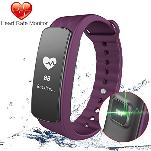 Gosund Fitness Tracker C8 Activity Tracker with Heart Rate Monitoring and Pedometer Call SMS Reminder for Android/iOS