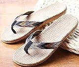 Zapatillas Casa Chanclas Sandalias Chanclas De Playa Negras para Hombre Zapatillas De Lino Sandalias para El Hogar del Hotel para Interiores Al Aire Libre-Grey_9