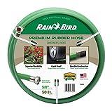 "Rain Bird PGH50 Premium Heavy-Duty Garden Hose, 100% EDPM Rubber, Hexagonal, Kink-Resistant, 5/8"""