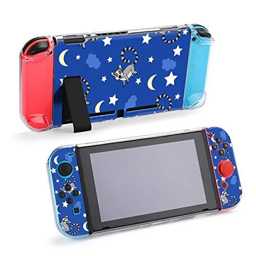 Lemur Family Love Nursery Schutzhülle für Nintendo Switch, Hard Shell Case Handheld Grip Controller