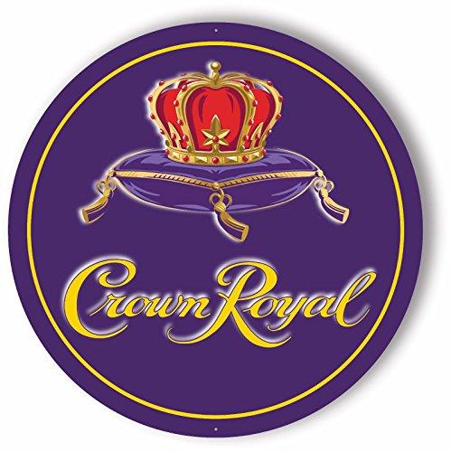 Crown Royal Sign - 24' Diameter Metal Sign