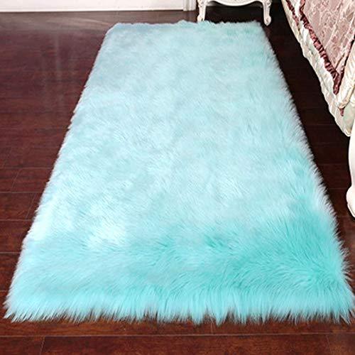 SHENGYUAN Lujosa alfombra de piel de oveja suave y esponjosa de piel...