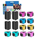 QINK para HP 363XL cartucho de tinta de color negro 14-Pack Indicador de nivel de tinta para HP Photosmart 3110 3210 3300 3310 8230 8250 C5140 C5150 C5180