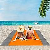 ISOPHO Alfombra de Playa Esterilla Playa, Manta Picnic Impermeable Manta de Picnic 274X 243cm Manta de Playa con 4 Clavos Fijos, Alfombra de Picnic Bordes Reforzados para la Playa, Camping, y Picnic