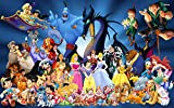 CHANGJIU- 1000 Puzzles De Madera para Adultos- Póster De Anime Aladdin -Rompecabezas para Niños para La Coordinación Lógica Y Sensorial