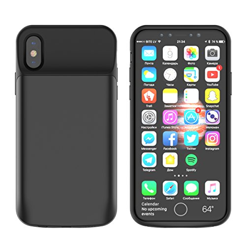 iPhone X Battery Case, Custodia Batteria Cover Esterno Battery Cover 6000mAh Portatile Rechargeable Power Case Batteria Backup Power Charger iPhone...