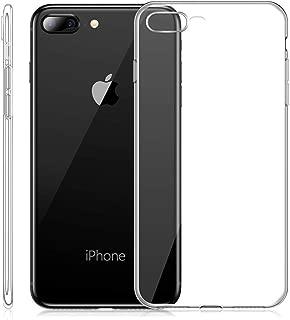 mobile store Slim Fit iPhone 8 Plus-7 Plus Uyumlu Kılıf, Ultra İnce Yumuşak Silikon Jel Kapak, Kablosuz Şarj Uyumlu