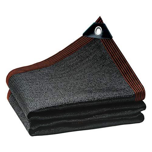 YUXO-COWER Rete Ombreggiante Giardino 75% Nero Protezione Solare Ombra Panno d'angolo di Rinforzo Asola Ombra Reticolato (Color : Black, Size : 4x6m)