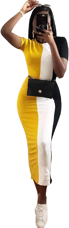 Rela Bota Women's High Neck Long Sleeve Striped Tunic Bodycon Long Maxi Pencil Dress