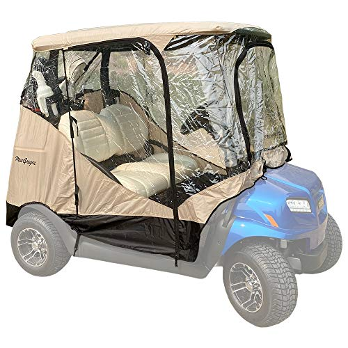 MACGREGOR Golf Cart Cover/Enclosure with 4 Sides, Zippered Doors, 2 Passenger Carts
