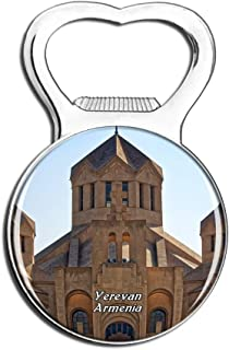 Weekino Yerevan Armenia Fridge Magnet Bottle Opener Beer City Travel Souvenir Collection Strong Refrigerator Sticker