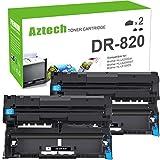 Aztech Compatible Drum Unit Replacement for Brother DR820 DR-820 DR 820 for Brother HL-L6200DW MFC-L5850DW MFC-L5900DW MFC-L6700DW MFC-L5800DW HLL6200DW HL-L5200DW HLL5100DN HLL6300DW (Black, 2-Pack)