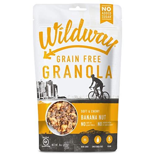 Wildway Keto, Vegan Granola | Banana Nut | Certified Gluten Free, Paleo, Grain Free, Non GMO, Dairy Free, No Artificial Sweetener | 8oz, 6 pack