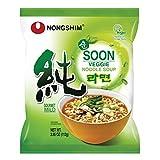 Nongshim Soon Noodle Soup, Veggie, 3.95 Ounce (Pack of 10)