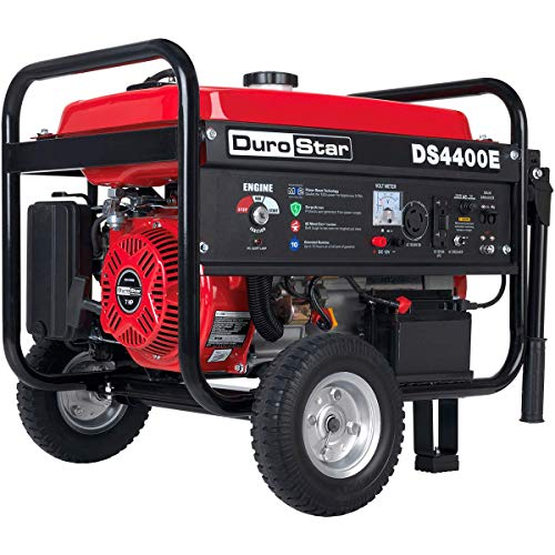 DuroStar DS4400E Gas Powered Portable Generator - 4400 Watt -Electric Start- Camping & RV Ready, 50 State Approved