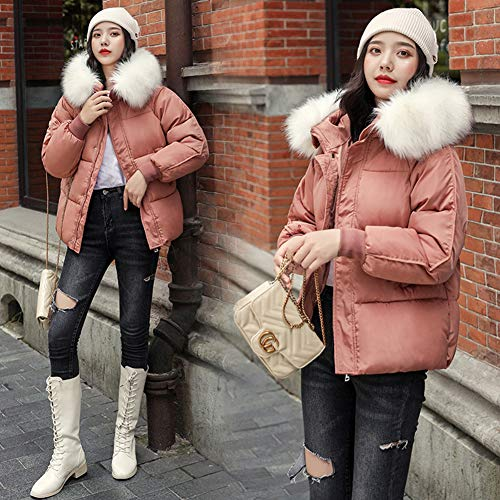 Metermall Home Winter Fashion Down katoenen jas Warm Hooded korte wollen kraagjas voor dames