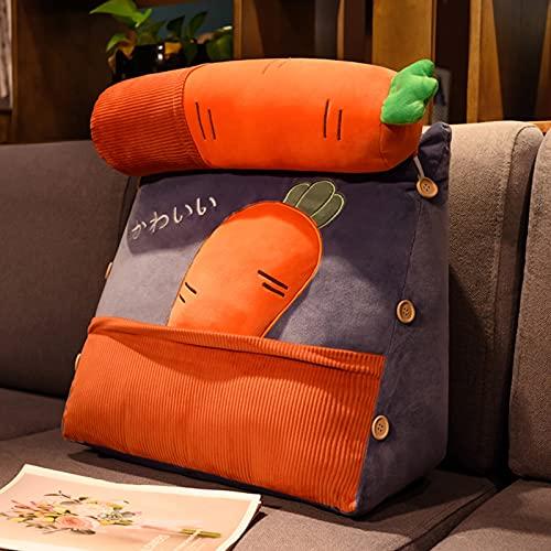 Czytanie poduszki z regulowaną poduszką na szyi Poszewka na poduszkę z powrotem na poduszkę do siedzenia w łóżku Osłona wymienna, Perfect Back Support Poduszki dla dorosłych Czytanie/oglądanie TELEW