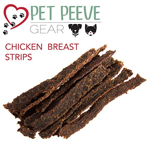 Best Dog Treats, All NATURAL Dog Jerky Treats Made in USA ONLY, 2 Premium Flavors in 1 bag, Chicken & Beef Strips, Healthy Teeth, Grain & Gluten Free, Great Diabetic Treat, SUGAR FREE, Dental Chews