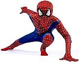 Disfraz Spiderman Niño, Homecoming Spiderman Disfraz Niño, Superheroe Spiderman Mascara Niño Cosplay Halloween Suit Spiderman Traje, 3D Print Carnaval Disfraz De Spiderman Niño,RedBlue-XS(102cm~112cm)