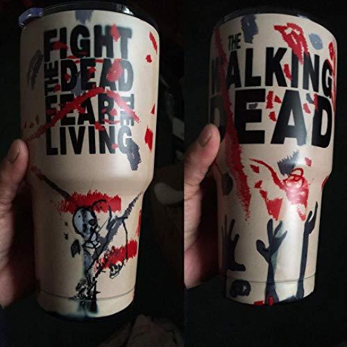 Walking Dead Zombie Cup Kaffeebecher Tee Wasserbecher Isoliertes Vakuum Doppelwand Thermosglas, 900 Ml 30 Unzen, Walking Dead