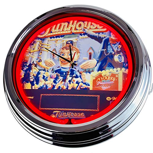 Neon Uhr Flipper Funhouse Williams 1990