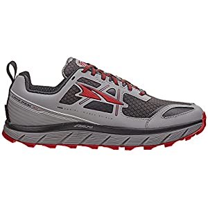 ALTRA Men's Lone Peak 3 Low Neo Running Shoe, Color: Gray/Red, Size: 9, Width: D (A1653LOW-1-090-D)