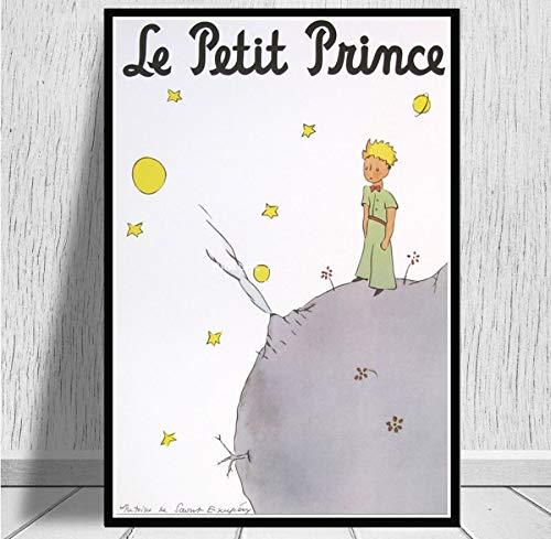 ysldtty Toile Peinture Le Petit Prince Film Enfants Anime Affiche Impression Toile Peinture Cadeau sans Cadre 40x60cm