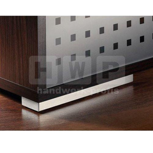 Möbelfuß 150 mm Edelstahl gebürstet