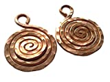 Copper Jewelry Making Accessories Hand Hammered Infiniti Spiral Charm Small .8 Inches