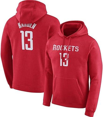 Sweat à Capuche pour Hommes, Rockets James Harden Maillot D'entraîneHommest, Ensemble D'entraîneHommest Sweat-Shirt Ensemble, Sweat à Manches Longues