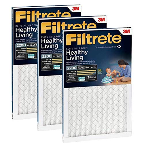 small Filtrete MPR 2200 16 x 25 x 1 Healthy Living Elite Allergen Reduction HVAC Air Filter, Provided …