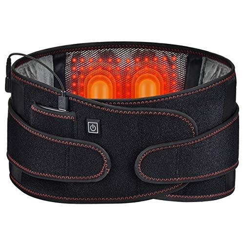 GHHYS Faja Lumbar para la Espalda, cinturón de Soporte para la Espalda, calefacción de luz roja, Soporte Inflable para la Cintura con 3 Niveles de Ajuste de Temperatura